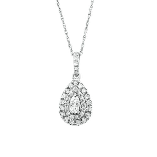Michael Hill Designer Fashion Pendant with 1/3 Carat TW of Diamonds in 10kt White Gold