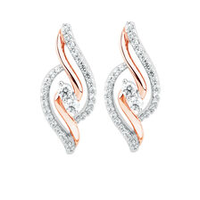 By My Side Earrings with 0.39 Carat TW of Diamonds in 10kt Rose Gold