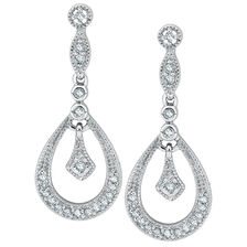 Drop Earrings with 0.20 Carat TW of Diamonds in Sterling Silver