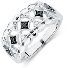 City Lights Ring with Enhanced Black Diamonds in Sterling Silver