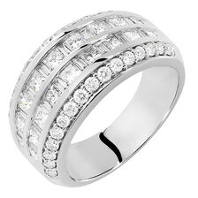 Ring with 2 Carat TW of Diamonds in 18kt White Gold