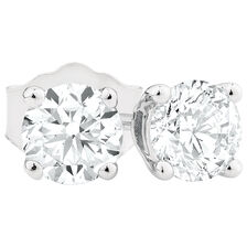 Stud Earrings with 0.45 Carat TW of Diamonds in 14ct White Gold