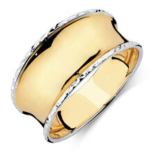 Concave Ring in 10ct Yellow & White Gold