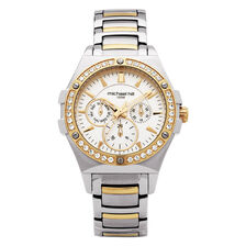 Ladies Watch with Crystals in Silver & Gold Tone Stainless Steel