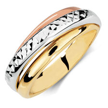 Ring in 10kt Yellow, White & Rose Gold