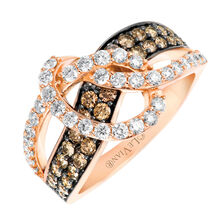 Le Vian Ring with 1 1/3 Carat TW of Chocolate & Vanilla Diamonds in 14kt Rose Gold