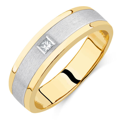 s set ring in 10kt yellow white gold