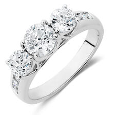 Evermore Engagement Ring with 2 Carat TW of Diamonds in 18ct White Gold