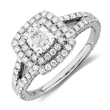 Michael Hill Designer Arpeggio Engagement Ring with 1.69 Carat TW of Diamonds in 14ct White Gold