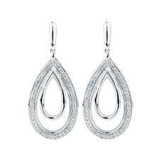 Drop Earrings with 0.20 Carat TW of Diamonds in Sterling Silver