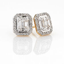 Online Exclusive - Fashion Earring with 1/2 Carat TW of Diamonds in 10ct Yellow Gold
