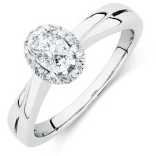 Engagement Ring with 0.33 Carat TW of Diamonds in 14ct White Gold