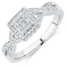 Promise Ring with 1/4 Carat TW of Diamonds in 10kt White Gold