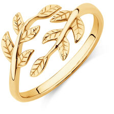 Leaf Ring in 10ct Yellow Gold