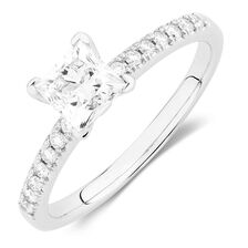 Evermore Colourless Engagement Ring with 1.12 Carat TW of Diamonds in Platinum