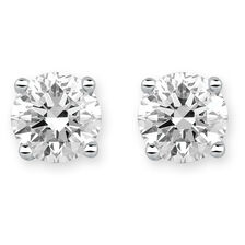Stud Earrings with 1 1/2 TW of Diamonds in 18ct White Gold