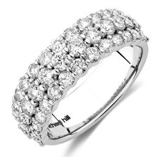 Ring with 1 1/2 Carat TW of Diamonds in 14kt White Gold
