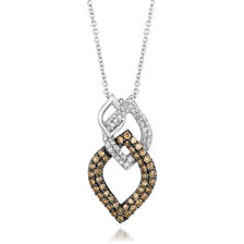 Le Vian Pendant with 5/8 Carat TW of Chocolate & Vanilla Diamonds in 14kt Rose Gold