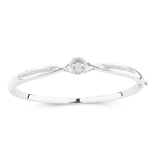 Everlight Bangle in 0.20 Carat TW of Diamonds in Sterling Silver