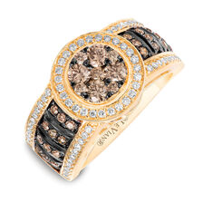 Le Vian Ring with 1 Carat TW of Chocolate & Vanilla Diamonds in 14kt Yellow Gold
