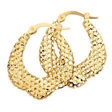 Online Exclusive - Hoop Earrings in 14kt Yellow Gold
