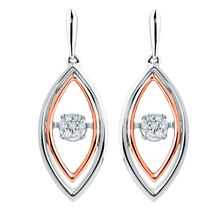 Everlight Earrings with Diamonds in Sterling Silver & 10ct Rose Gold