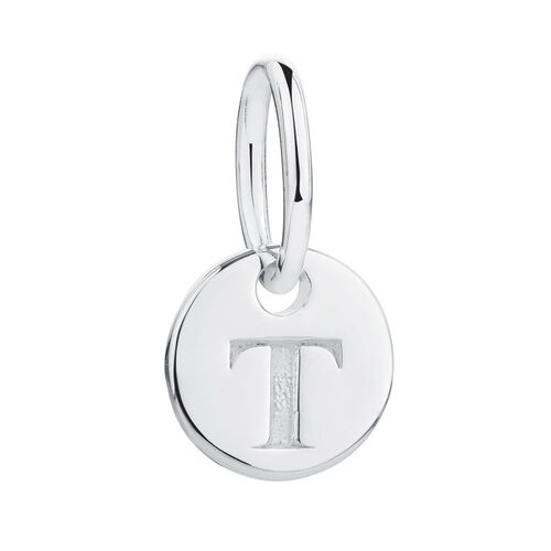 T' Mini Pendant in Sterling Silver