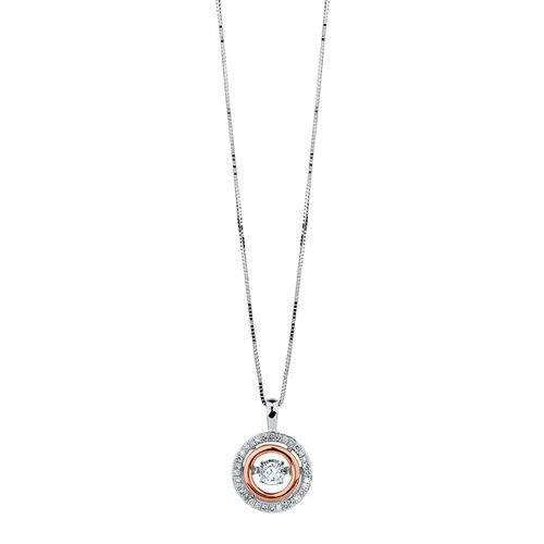 Everlight Pendant with 1/3 Carat TW of Diamonds in 10kt White & Rose Gold