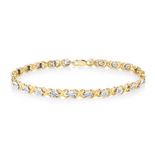 Bracelet with 1/4 Carat TW of Diamonds in 10kt Yellow & White Gold