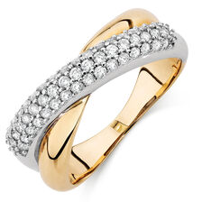 Online Exclusive - Ring with 1/2 Carat TW of Diamonds in 10ct Yellow & White Gold