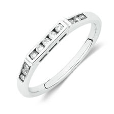 Wedding Band with 0.17 Carat TW of Diamonds in 14kt White Gold