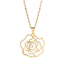 Rose Pendant in 10kt Yellow Gold