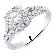 Engagement Ring with 0.57 Carat TW of Diamonds in 14ct White Gold