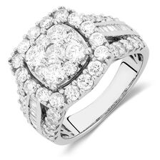 Engagement Ring with 2.62 Carat TW of Diamonds in 14kt White Gold
