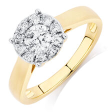 Engagement Ring with 3/4 Carat TW of Diamonds in 10kt Yellow Gold