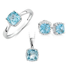 Aquamarine & Diamond Set