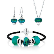 Glass & Sterling Silver Boxed Set