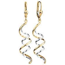 Drop Earrings in 10kt Yellow & White Gold