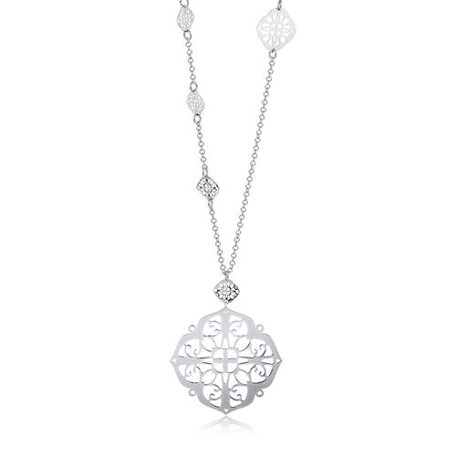"70cm (28"") Filigree Necklace in Sterling Silver"