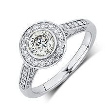 Engagement Ring with 1.31 Carat TW of Diamonds in 18ct White Gold
