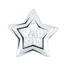 White Cubic Zirconia & Sterling Silver Star Charm