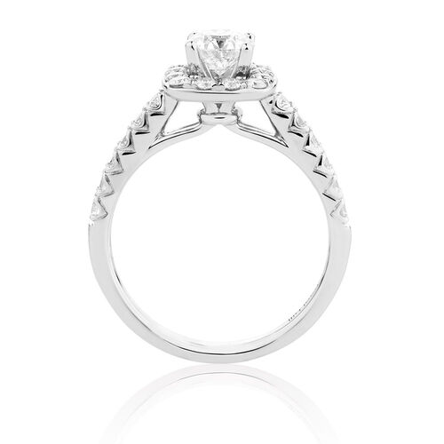 Ideal cut engagement ring with 1 1 3 carat tw of diamonds in 14kt