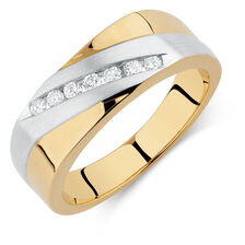 Men's Ring with 0.20 Carat TW of Diamonds in 10kt Yellow & White Gold