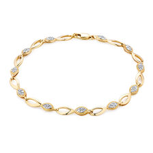 Online Exclusive - Bracelet with 1/2 Carat TW of Diamonds in 10ct Yellow Gold