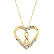 Infinitas Pendant with 1/4 Carat TW of Diamonds in 10ct Yellow Gold