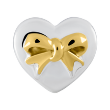 Sterling Silver & 10kt Yellow Gold Heart Charm