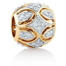 Charm with 1/4 Carat TW of Diamonds in 10ct Yellow Gold