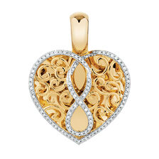 Infinitas Enhancer Pendant with 0.33 Carat TW of Diamonds in 10ct Yellow Gold