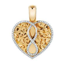Infinitas Enhancer Pendant with 0.33 Carat TW of Diamonds in 10ct Yellow Gold