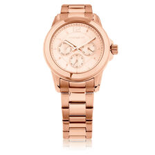 Ladies Multi-Function Watch in Rose Tone Stainless Steel